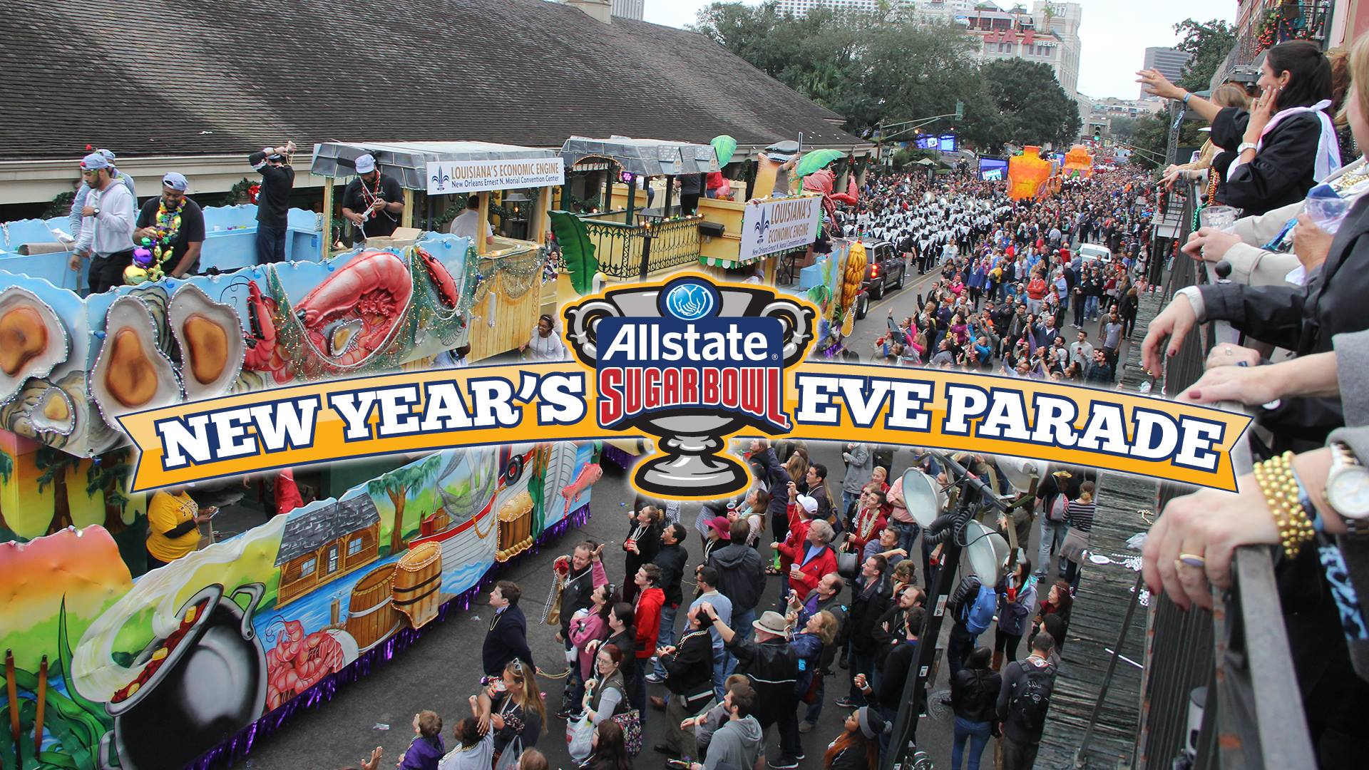 Allstate Sugar Bowl New Year's Eve Parade 2017
