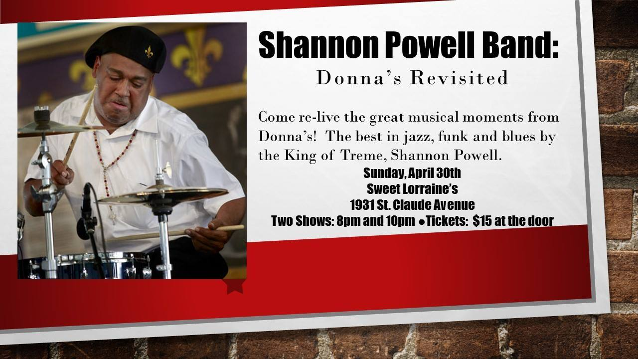 Shannon Powell Band:  Donna's Revisited - Sweet Lorraine's