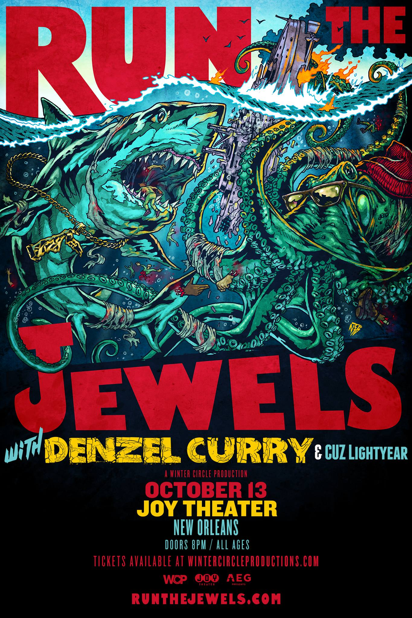 RUN THE JEWELS with Denzel Curry & Cuz Lightyear - Joy Theater