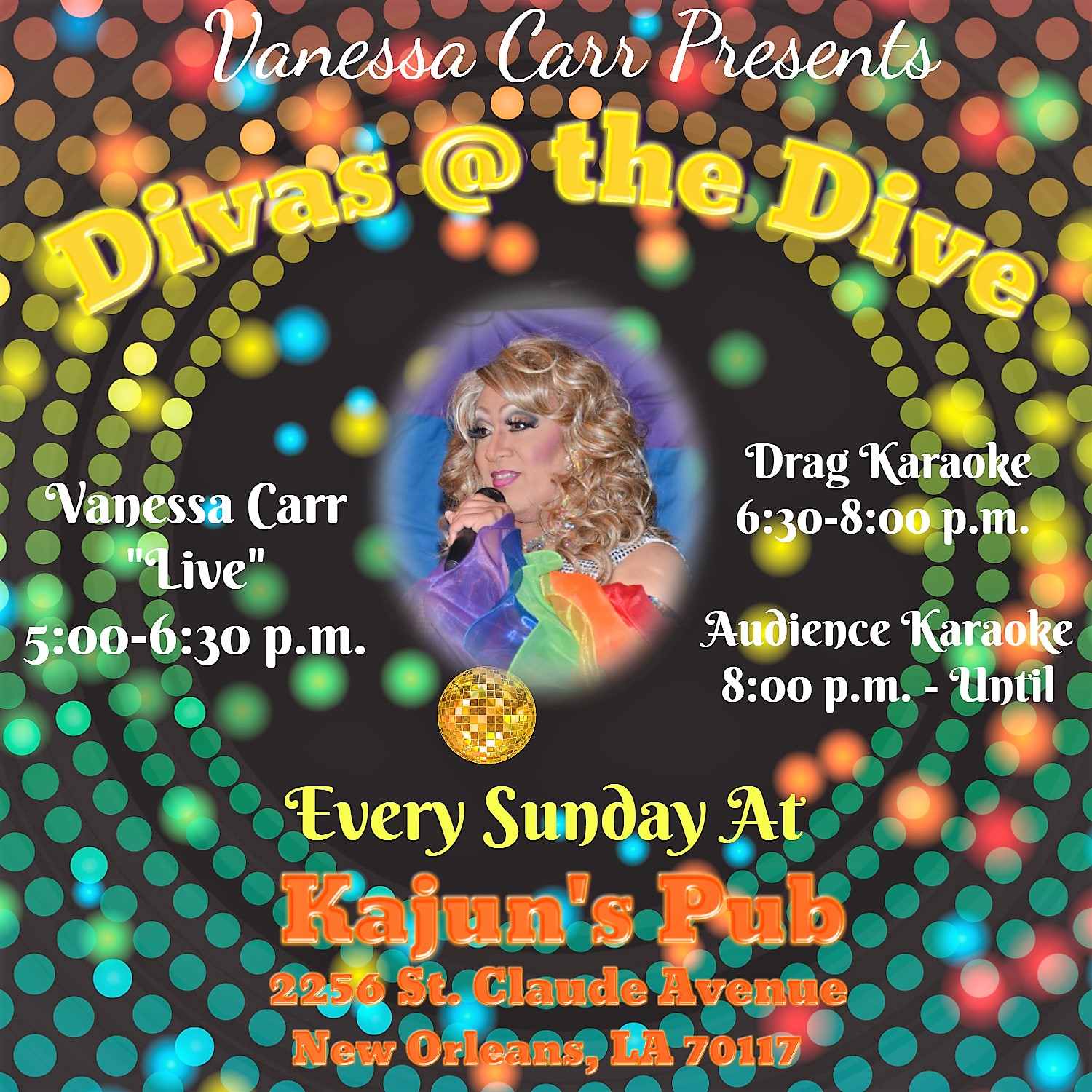 Vanessa Carr Presents Divas @ The Dive