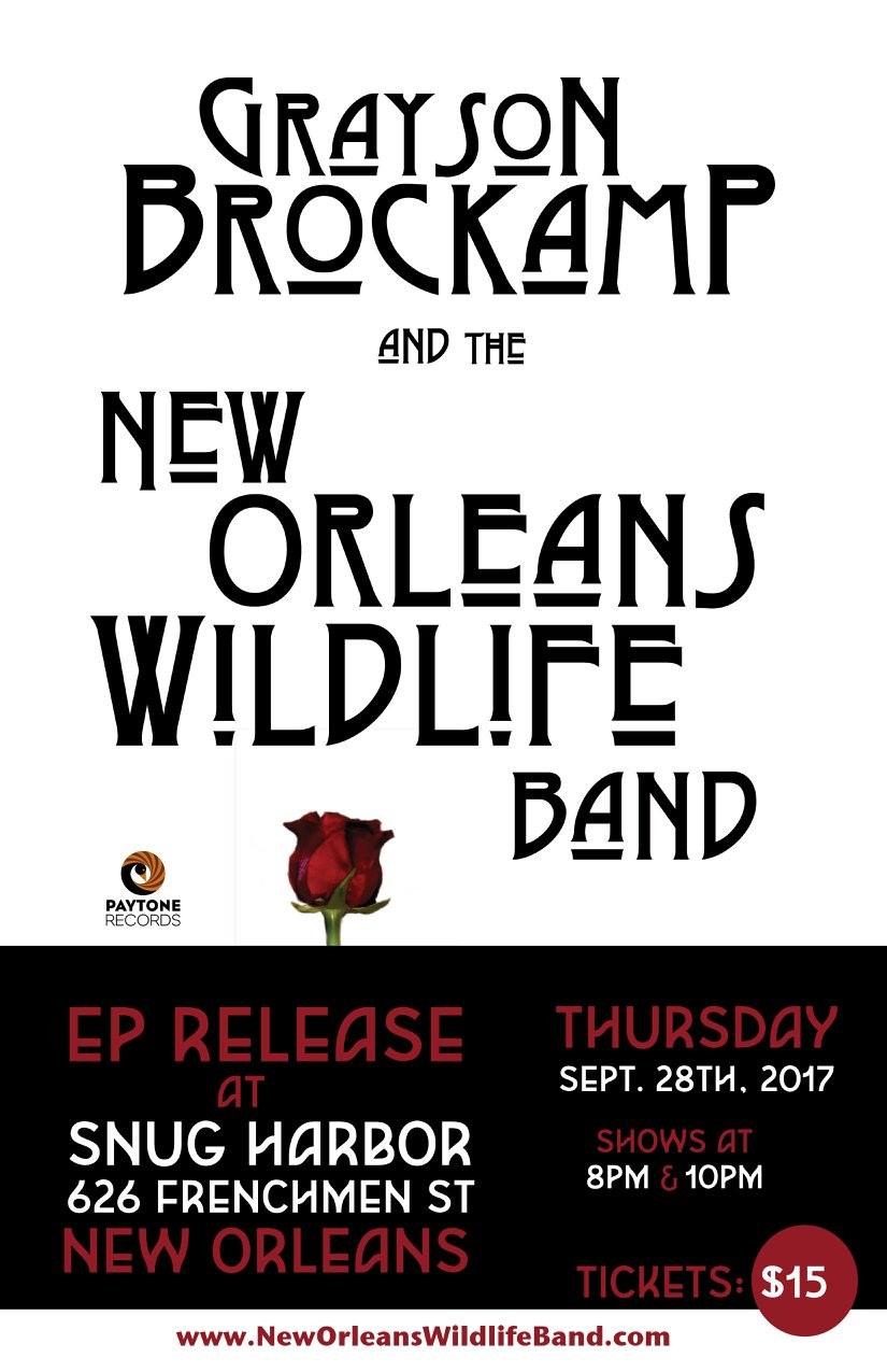 Grayson Brockamp The Wildlife Band 8 10pm