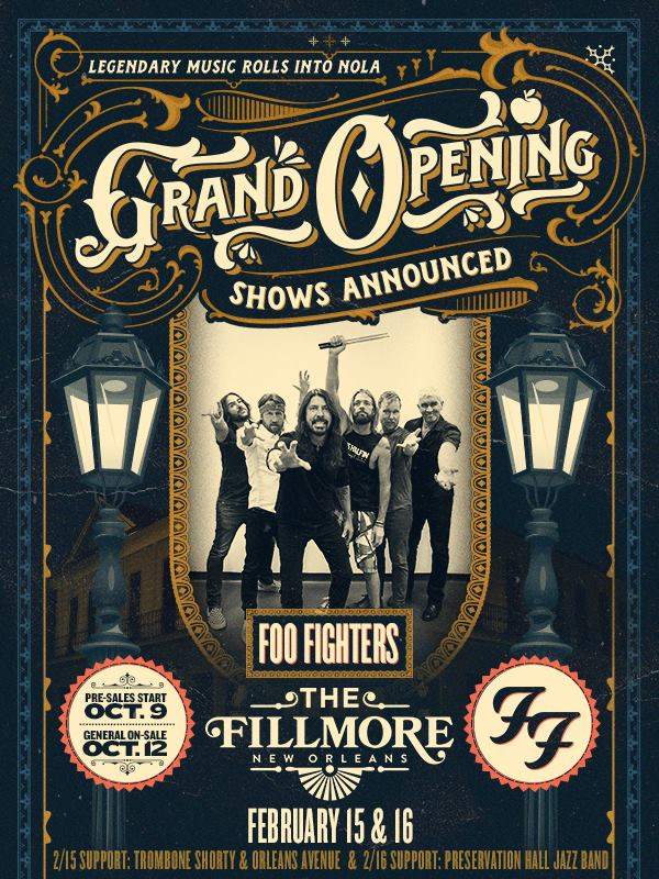 FOO FIGHTERS + Preservation Hall Jazz Band - Fillmore New Orleans