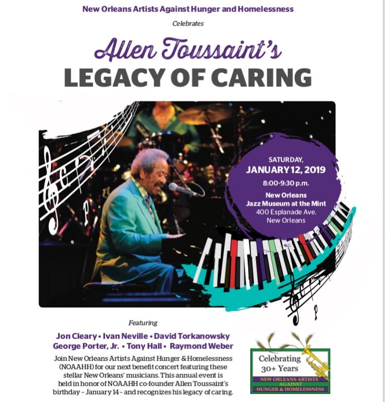 NOAAHH Celebrates Allen Toussaint's Legacy of Caring - New Orleans Jazz Museum