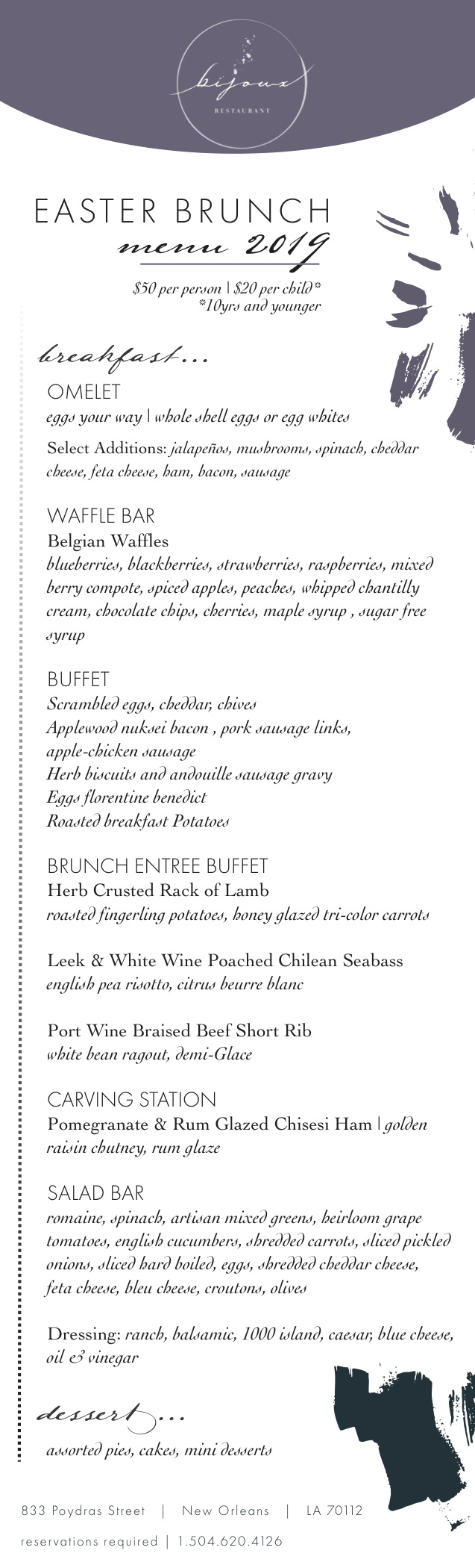 Easter Brunch at Bijoux