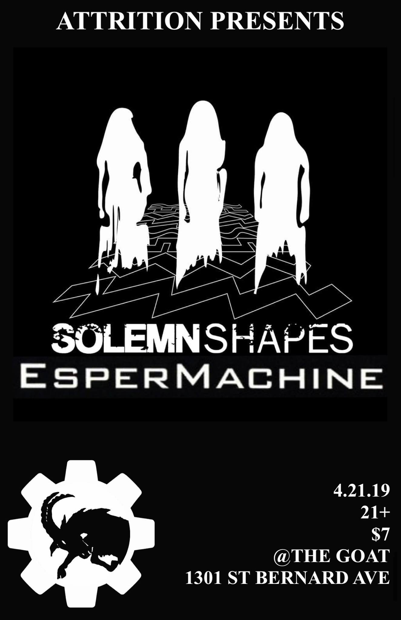 Attrition Presents Solemn Shapes + Espermachine - The Goat